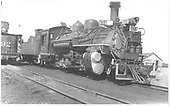 K-28 #474 in Gunnison, CO.<br /> D&amp;RGW  Gunnison, CO  Taken by Treptow, Russell F. - 8/15/1940