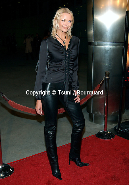 """Irina Voronina arriving at the premiere of """"Femme Fatale"""" at the Cinerama Dome in Los Angeles. November 4, 2002"""