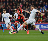 Swansea City's Fernando Llorente (R) battles with Bournemouth's Andrew Surman (L)<br /> Bournemouth 2 - 0 Swansea<br /> <br /> Photographer David Horton/CameraSport<br /> <br /> The Premier League - Bournemouth v Swansea City - Saturday 18th March 2017 - Vitality Stadium - Bournemouth<br /> <br /> World Copyright &copy; 2017 CameraSport. All rights reserved. 43 Linden Ave. Countesthorpe. Leicester. England. LE8 5PG - Tel: +44 (0) 116 277 4147 - admin@camerasport.com - www.camerasport.com