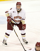 Brian Dumoulin (BC - 2) - The Boston College Eagles defeated the visiting University of Massachusetts-Lowell River Hawks 5-3 (EN) on Saturday, January 22, 2011, at Conte Forum in Chestnut Hill, Massachusetts.