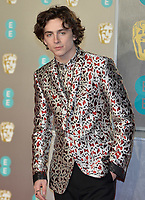 LONDON, UK - FEBRUARY 10: Timothée Chalamet at the 72nd British Academy Film Awards held at Albert Hall on February 10, 2019 in London, United Kingdom. <br /> CAP/MPI/IS<br /> ©IS/MPI/Capital Pictures