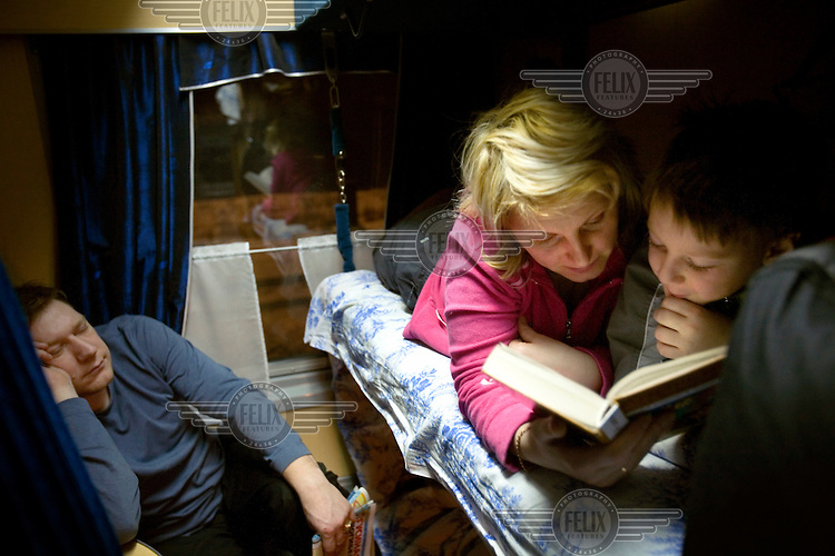A family take a night train across Russia. The Trans-Siberian Express travels through German, Polish and Belarusian territories to arrive in the Siberian city of Irkutsk. The entire journey takes six days.