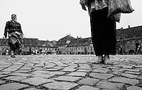 Roma People in Sibiu, Romania July 1990