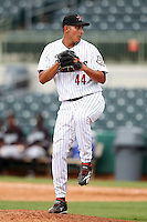 GCL Astros Pedro Gomez #44 during a game against the GCL Marlins at Osceola County Stadium on June 25, 2011 in Kissimmee, Florida.  The Astros defeated the Marlins 5-2 after the game was ended in the sixth inning due to heavy rain.   (Mike Janes/Four Seam Images)