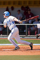 Jesse Wierzbicki #34 of the North Carolina Tar Heels follows through on his swing against the Florida State Seminoles at Boshamer Stadium March 20, 2010, in Chapel Hill, North Carolina.  Photo by Brian Westerholt / Four Seam Images