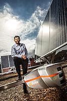 Wasiq Bokhari pictures: executive portrait photography of Wasiq Bokhari, CEO of QBotix, by San Francisco corporate photographer Eric Millette