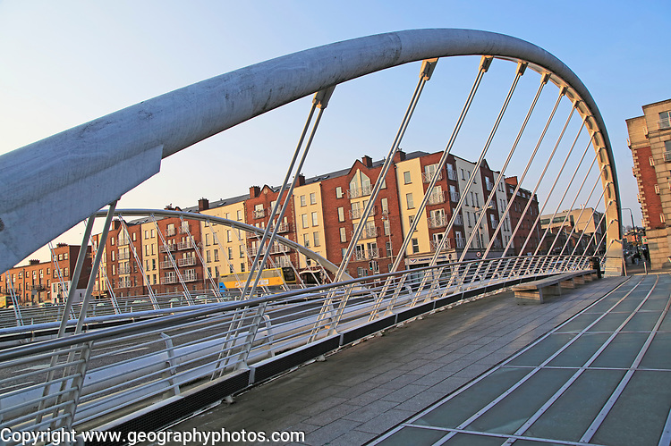 James Joyce bridge, city of Dublin, Ireland, Irish Republic