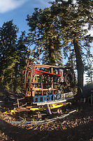 Equipment Graveyard, Mt. Ashland Ski Area, Rogue River–Siskiyou National Forest, Oregon, US