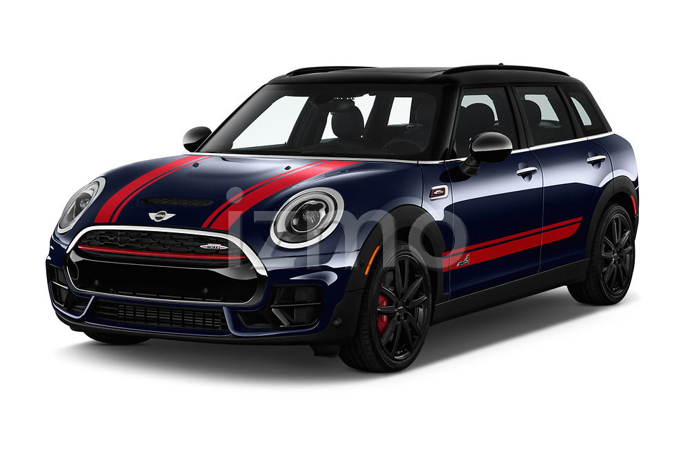 2017 Mini Clubman John Cooper Works 5 Door Wagon angular front stock photos of front three quarter view