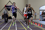 12 MAR 2011: Justin Allen of Buffalo State competes in the 400 meter dash during the Division III Men's and Women's Indoor Track and Field Championships held at the Capital Center Fieldhouse on the Capital University campus in Columbus, OH.  Jay LaPrete/NCAA Photos