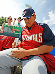 12 March 2008: Washington Nationals' pitcher Chad Cordero signs an autograph prior to a Spring Training game against the Los Angeles Dodgers at Holman Stadium, in Vero Beach, Florida. The Nationals defeated the Dodgers 10-4 at the historic Dodgertown ballpark. 2008 marks the final season of Spring Training at Dodgertown for the Dodgers, as the team will move to new training facilities in Arizona starting in 2009 after 60 years in Florida...Mandatory Photo Credit: Ed Wolfstein Photo