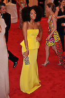 Solange Knowles at the 'Schiaparelli And Prada: Impossible Conversations' Costume Institute Gala at the Metropolitan Museum of Art on May 7, 2012 in New York City. © mpi03/MediaPunch Inc.