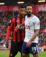 Bournemouth's Lys Mousset (left) marking Tottenham Hotspur's Mousa Dembele (right)<br /> <br /> Bournemouth 1 - 4 Tottenham Hotspur<br /> <br /> Photographer David Horton/CameraSport<br /> <br /> The Premier League - Bournemouth v Tottenham Hotspur - Sunday 11th March 2018 - Vitality Stadium - Bournemouth<br /> <br /> World Copyright &copy; 2018 CameraSport. All rights reserved. 43 Linden Ave. Countesthorpe. Leicester. England. LE8 5PG - Tel: +44 (0) 116 277 4147 - admin@camerasport.com - www.camerasport.com