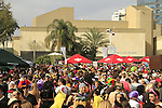 Purim street party at the plaza in front of the Tel Aviv Museum of Art