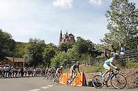 A group of cyclists escaped a group of cyclists escaped near the basilica of Nuestra Senora de Covadonga during the stage of La Vuelta 2012 between La Robla and Lagos de Covadonga. September 2,2012. (ALTERPHOTOS/Paola Otero) /NortePhoto.com<br /> <br /> **CREDITO*OBLIGATORIO** <br /> *No*Venta*A*Terceros*<br /> *No*Sale*So*third*<br /> *** No*Se*Permite*Hacer*Archivo**<br /> *No*Sale*So*third*