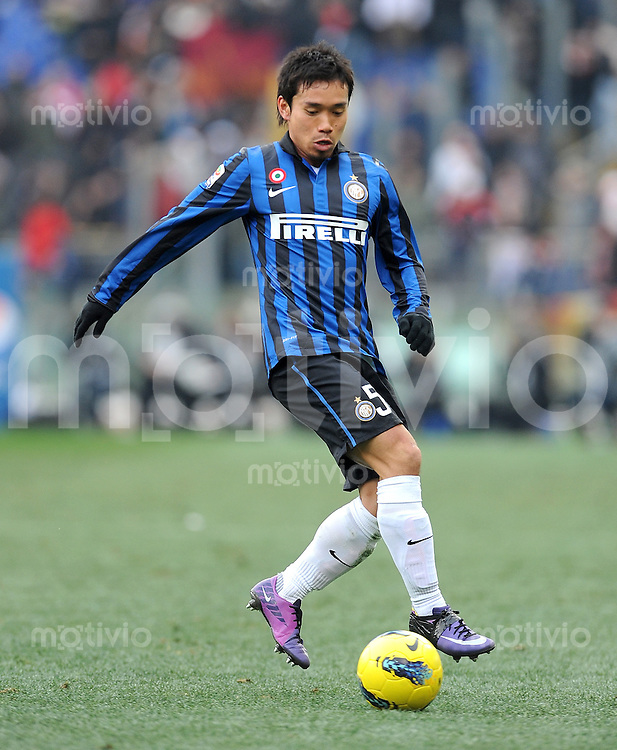 FUSSBALL INTERNATIONAL   SERIE A   SAISON 2011/2012    AS Rom - Inter Mailand  05.01.2012 Yuto Nagatomo (Inter Mailand)