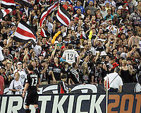 Fans of D.C. United during an MLS match against the New England Revolution on April 3 2010, at RFK Stadium in Washington D.C.