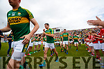 Shane Enright Kerry team takes to the field before the Munster Senior Football Final at Fitzgerald Stadium on Sunday.