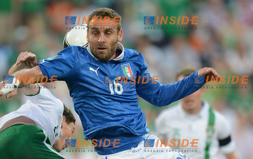 """Daniele DE ROSSI (Italia).Poznan 18/06/2012  """"""""Stadion Miejski"""".Football calcio Europeo 2012 Italia Vs Irlanda.Football Calcio Euro 2012.Foto Insidefoto Alessandro Sabattini..."""