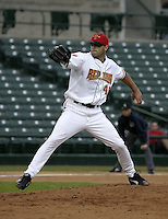 May 26, 2004:  Pitcher Joe Beimel of the Rochester Red Wings, Triple-A International League affiliate of the Minnesota Twins, during a game at Frontier Field in Rochester, NY.  Photo by:  Mike Janes/Four Seam Images