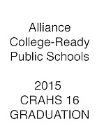 ALLIANCE 2015 CRAHS 16 Graduation