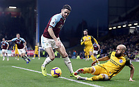 Burnley's Robbie Brady battles with Brighton & Hove Albion's Bruno Saltor<br /> <br /> Photographer Rich Linley/CameraSport<br /> <br /> The Premier League - Burnley v Brighton and Hove Albion - Saturday 8th December 2018 - Turf Moor - Burnley<br /> <br /> World Copyright © 2018 CameraSport. All rights reserved. 43 Linden Ave. Countesthorpe. Leicester. England. LE8 5PG - Tel: +44 (0) 116 277 4147 - admin@camerasport.com - www.camerasport.com