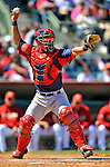 11 March 2011: Boston Red Sox catcher Mark Wagner in action during a Spring Training game against the Houston Astros at Osceola County Stadium in Kissimmee, Florida. The Red Sox defeated the Astros 9-3 in Grapefruit League action. Mandatory Credit: Ed Wolfstein Photo