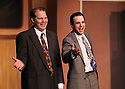 """CSTOCK is presenting the musical  """"White Christmas"""" Dec 2-18 at their Silverdale theater. This production  adaptation features seventeen Irving Berlin songs. Actors F James Raasch and Eric Richardson perform a song number during rehearsal Monday.  Brad Camp 