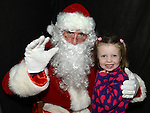 Megan Heeney pictured with Santa at the Castle Manor childrens Christmas party in the Rugby Club. Photo:Colin Bell/pressphotos.ie