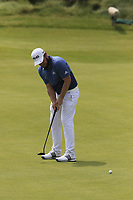 Tyrrell Hatton (ENG) putts on the 6th green during Thursday's Round 1 of the Dubai Duty Free Irish Open 2019, held at Lahinch Golf Club, Lahinch, Ireland. 4th July 2019.<br /> Picture: Eoin Clarke | Golffile<br /> <br /> <br /> All photos usage must carry mandatory copyright credit (© Golffile | Eoin Clarke)