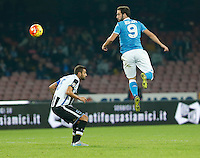 Gonzalo Higuain  during the  italian serie a soccer match,between SSC Napoli and Udinese      at  the San  Paolo   stadium in Naples  Italy , November 08, 2015
