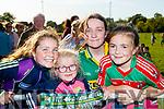 Alison Piggott and Ella Kate Piggott (Kilcummin) with Alanah Kelly (Headford) and Emma O'Donoghue (Kilcummin), pictured at the Kerry Minor home coming at Kilcummin GAA pitch on Monday night last.