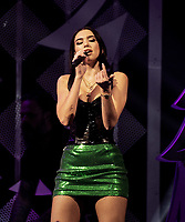 PHILADELPHIA, PA - DECEMBER 05: Dua Lipa  performs onstage during Q102's Jingle Ball 2018 at Wells Fargo Center on December 5, 2018 in Philadelphia, Pennsylvania. Photo: imageSPACE/MediaPunch