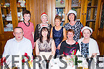 Enjoying their Christmas night out in Leens Hotel Abbeyfeale on Saturday night were the Templeglantine Camogie Assosiation Front Row L-R Mike Sweeney, Sheila Huxley, Nora Kelliher and Joanne Sheehy, Templeglantine.  Back Row L-R: Margaret O'Brien, Helen Collins, Abbeyfeale, Liz Cahill and Ita Flynn, Templeglantine.