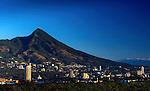 The peak of El Picacho is the iconic symbol of the city of San Salvador, El Salvador.
