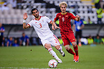 Ehsan Haji Safi of Iran (L) competes for the ball with Nguyen Van Toan of Vietnam during the AFC Asian Cup UAE 2019 Group D match between Vietnam (VIE) and I.R. Iran (IRN) at Al Nahyan Stadium on 12 January 2019 in Abu Dhabi, United Arab Emirates. Photo by Marcio Rodrigo Machado / Power Sport Images