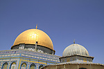 Israel, Jerusalem,  the Dome of the Chain and the Dome of the Rock at Haram esh Sharif