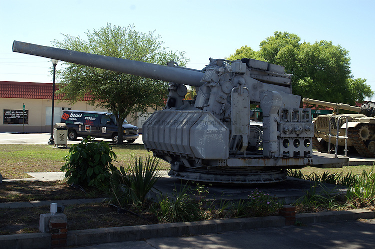 5 inch 38 cal gun mount at the War Memorial in Okeechobee, FL.
