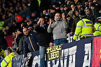 Swansea, UK. Thursday 20 February 2014<br /> Pictured: Napoli Fans<br /> Re: UEFA Europa League, Swansea City FC v SSC Napoli at the Liberty Stadium, south Wales, UK