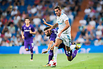 Theo Hernandez (r) of Real Madrid fights for the ball with Marco Benassi of ACF Fiorentina during the Santiago Bernabeu Trophy 2017 match between Real Madrid and ACF Fiorentina at the Santiago Bernabeu Stadium on 23 August 2017 in Madrid, Spain. Photo by Diego Gonzalez / Power Sport Images