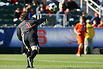 16 November 2008: Virginia's Michael Giallombardo (1). The University of Maryland defeated the University of Virginia 1-0 at WakeMed Stadium at WakeMed Soccer Park in Cary, NC in the men's ACC tournament final.