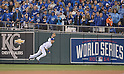 Norichika Aoki (Royals),<br /> OCTOBER 29, 2014 - MLB :<br /> Norichika Aoki of the Kansas City Royals during Game 7 of the 2014 Major League Baseball World Series against the San Francisco Giants at Kauffman Stadium in Kansas City, Missouri, United States. (Photo by AFLO)