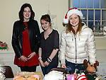 Niamh Kelly, Rebecca Owen and Veronica Pagube pictured at the Stamullen Christmas market. Photo:Colin Bell/pressphotos.ie