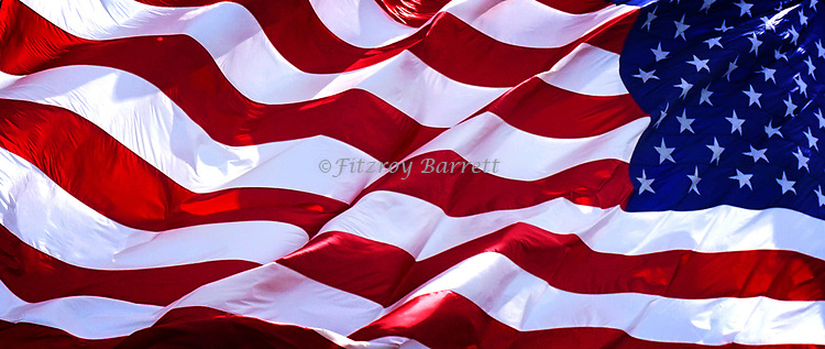 Photo of the American Flag was taken on one of my photo walk about's in Santa Clarita, California on May 7, 2017. ©Fitzroy Barrett