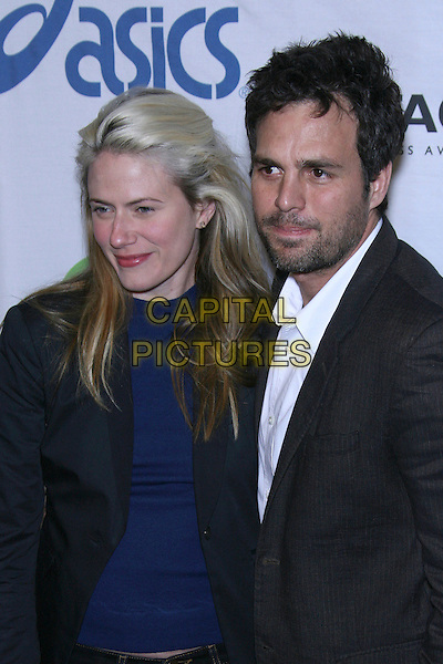 SUNRISE COIGNEY & MARK RUFFALO.Oxfam Annual Cocktail Party - Arrivals held at The Esquire House 360, Beverly Hills, California, USA..November 29th, 2006.headshot portrait grey gray jacket suit husband wife married.CAP/ADM/ZL.©Zach Lipp/AdMedia/Capital Pictures
