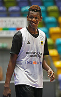 Isaac Bonga (Deutschland) glücklich bei der Nationalmannschaft zu sein - 20.02.2018: Deutsche Nationalmannschaft bereitet sich auf das WM-Quali-Spiel gegen Serbien vor, Fraport Arena Frankfurt