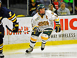 16 November 2008: University of Vermont Catamount forward and Team Captain Dean Strong, a Senior from Mississauga, Ontario, in action against the visiting Merrimack College Warriors at Gutterson Fieldhouse, in Burlington, Vermont. The Catamounts defeated the Warriors 2-1 in front of a near-capacity crowd of 3,813...Mandatory Photo Credit: Ed Wolfstein Photo