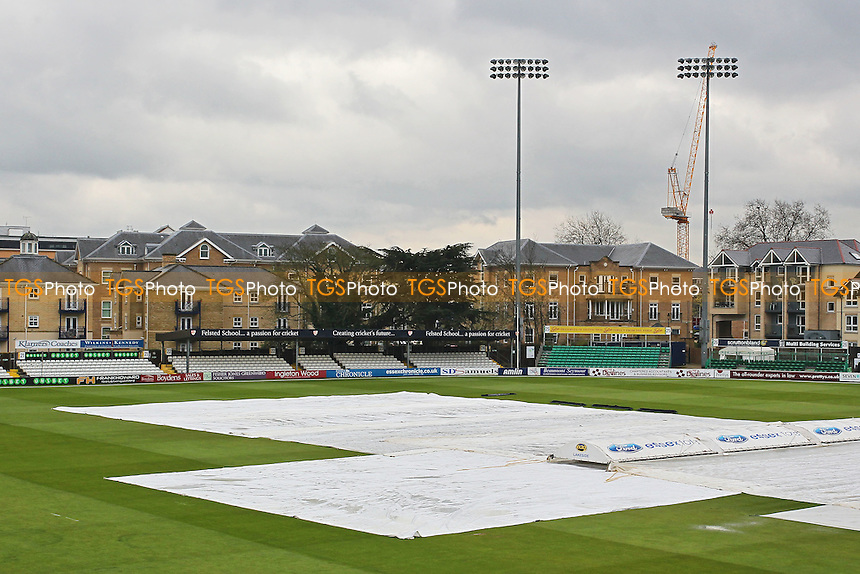 The covers are on as rain delays the start of Essex CCC vs Northamptonshire CCC, Specsavers County Championship Division 2 Cricket at the Essex County Ground on 25th April 2016