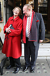 Oldie of the Year awards at Simpsons in the Strand.<br /> 2017<br /> <br /> Pic shows: Labour stalwart Glenda Jackson with former Sunday Times editor Andrew Neil<br /> <br /> Pic by Gavin Rodgers/Pixel 8000 Ltd