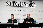 "The director of the festival, Angel Sala and american screenwriter and director Paul Schrader during press conference of the film ""Dog Eat Dog"" at Festival de Cine Fantastico de Sitges in Barcelona. October 11, Spain. 2016. (ALTERPHOTOS/BorjaB.Hojas)"